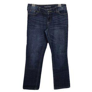 Maurices Women's Denim Jeans 7/8 Short Dark Wash